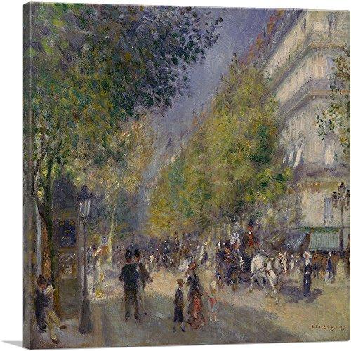 ARTCANVAS The Grands Boulevards 1875 Canvas Art Print by Pierre-Auguste Renoir- 18