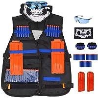 Kit de chaleco táctico para n strike elite nerf Series con mascarilla, muñequeras de mano, gafas protectoras, balas de…