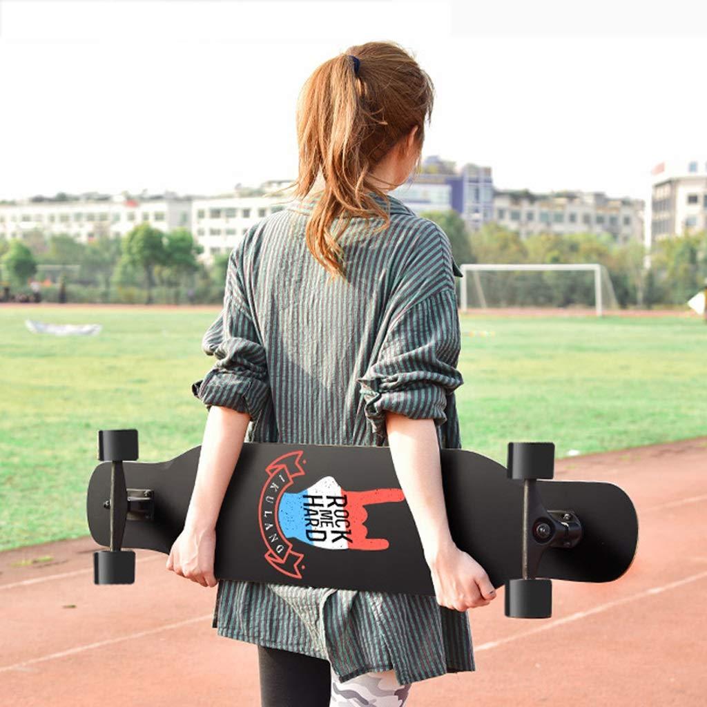DUWEN-Skateboard Teens Ahorn Skateboard Skateboard Skateboard Erwachsene Männer Und Frauen Wachstum Bord Tanzbrett Pinsel Straße Reise Anfänger Roller (mit Flash-Rad) (Farbe   D) B07NW254PF Skateboards Zuverlässiger Ruf 14bfbd