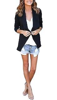 Damen Jacke Mädchen Herbst Elegant Reißverschluss Übergangsjacken Tops  Langarm Cute Chic Revers Asymmetrisch Einfarbig Jacken Young 6074115f28