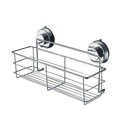 Aurorao Bathroom Suction Cup Corner Basket Bath Shower Caddy Storage Shelf  Stand Holder