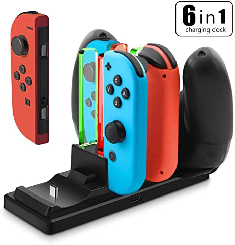Onedream Carga Nintendo Switch, Base de Carga 6 en 1 ...
