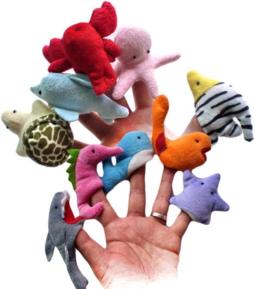 Ogquaton 1 UNIDS Animales Marinos Creativos Marionetas de Dedo Adorable Títeres Títeres Muñecas de Felpa Suave Niños Juguetes Educativos