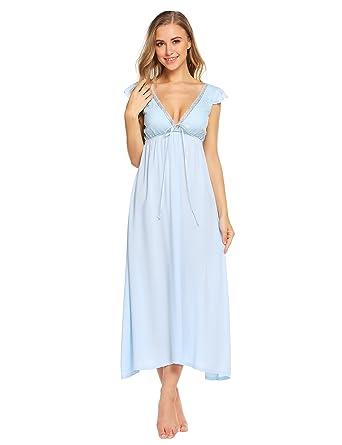 4d0f3d039067 Ekouaer Womens Victorian Nightgown Vintage Sleeveless Nightdress ...