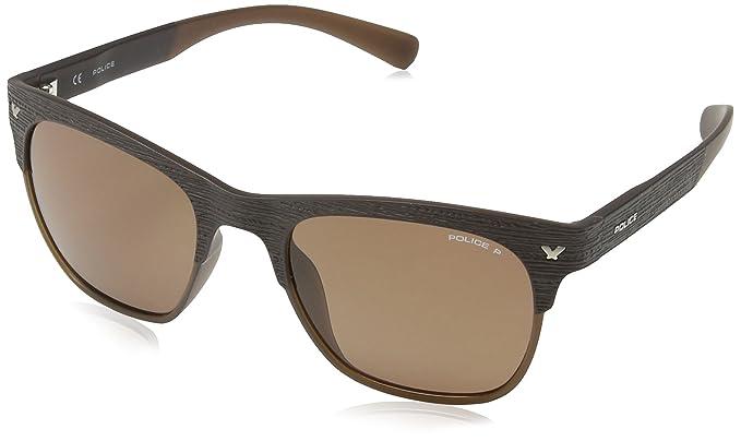 Police - Gafas de sol Wayfarer S1950 Game 2, SEMI MATT BROWN ...