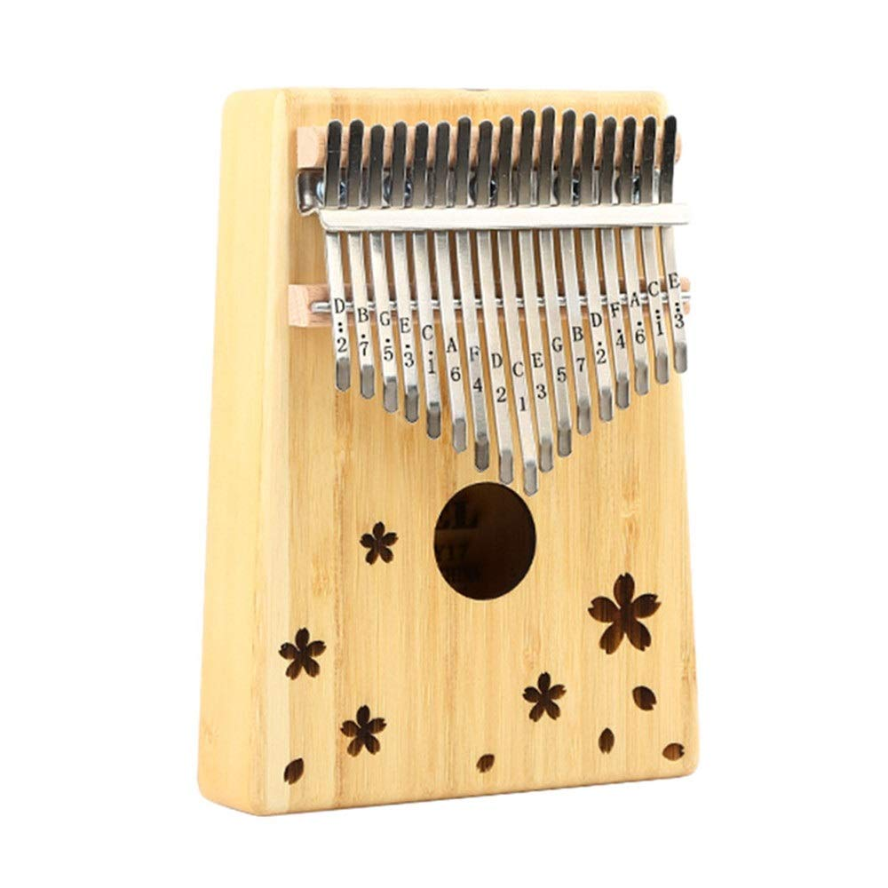Portable 17 Keys Kalimba Unicorn Heart Flower Carving Wood Thumb Piano Standard C Tune Finger Piano Metal Engraved Notation Tines with Tuning Hammer Pickup Carry Bag Kids Musical Instrument Gifts by TAESOUW-Musical