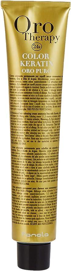 Fanola - Oro Therapy Color Keratin Puro, crema colorante permanente 100 ml 5.1 Hellbraun Asch