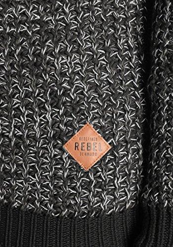1341 100 Maglieria Maglione Da Rebel Redefined Uomoin Pullover Black Cotone Marston Maglia In Grossa pwnFqxgCO