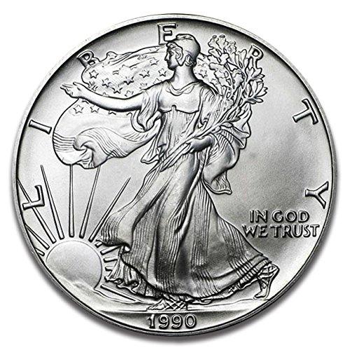 1990 American Eagle One Ounce Silver Bullion Dollar Uncirculated - 1990 American Silver Eagle