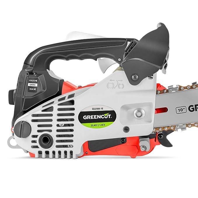 Greencut GSX250X-10 - Motosierra de gasolina, 25.4cc - 1.4cv ...
