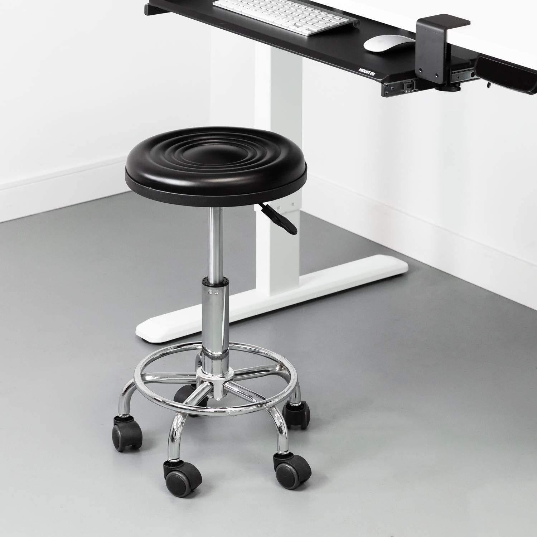 GT-LYD Salongspall, justerbar rullande spa-pall, hydraulisk svängbar stol med hjul för salong, medicinskt kontor, tatuering, hem, bilbutik, massage BD