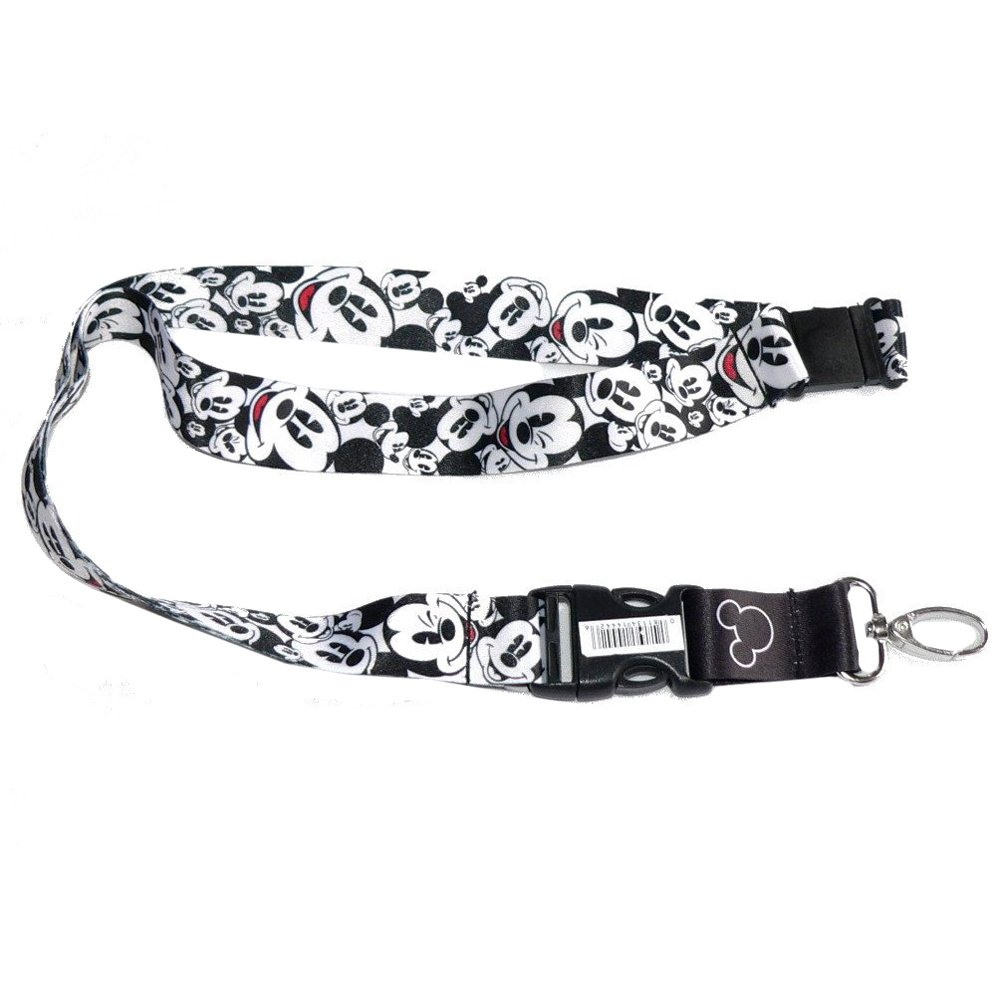 Mickey Mouse Classic Expressions Faces Heads Disney Cartoon Character Car Truck SUV ID Ticket and Key Chain Holder Clip On Lanyard PlastiColor