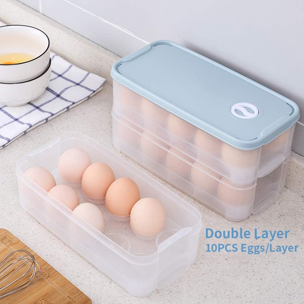Clear Eslite Covered Egg Holder,Egg Container for 24 Eggs Pack of 2 MU-48
