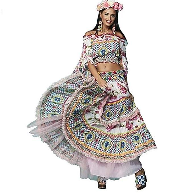 antica sartoria Positano - Palermo 31 vestido falda  Amazon.it ... 30b42487b7a