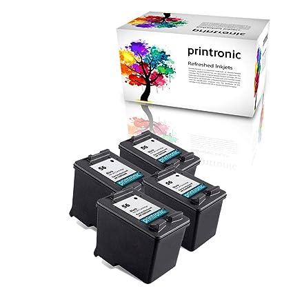 Printronic 4 Pack - remanufacturados HP 56 cartucho de tinta para ...