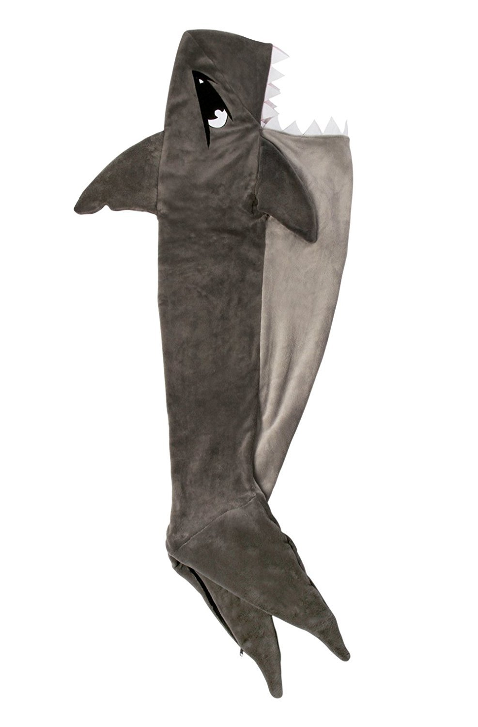 Fin Fun Chomps Shark Blanket Cuddle Tails (Youth Large) by Fin Fun