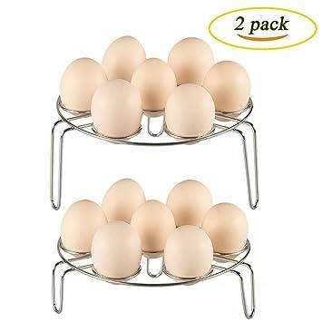 Acero inoxidable huevo alimentos Rack de vapor olla a presión eléctrica olla a presión de vapor accesorio de cocina Ware vapor rack soporte 2pcs: Amazon.es: ...