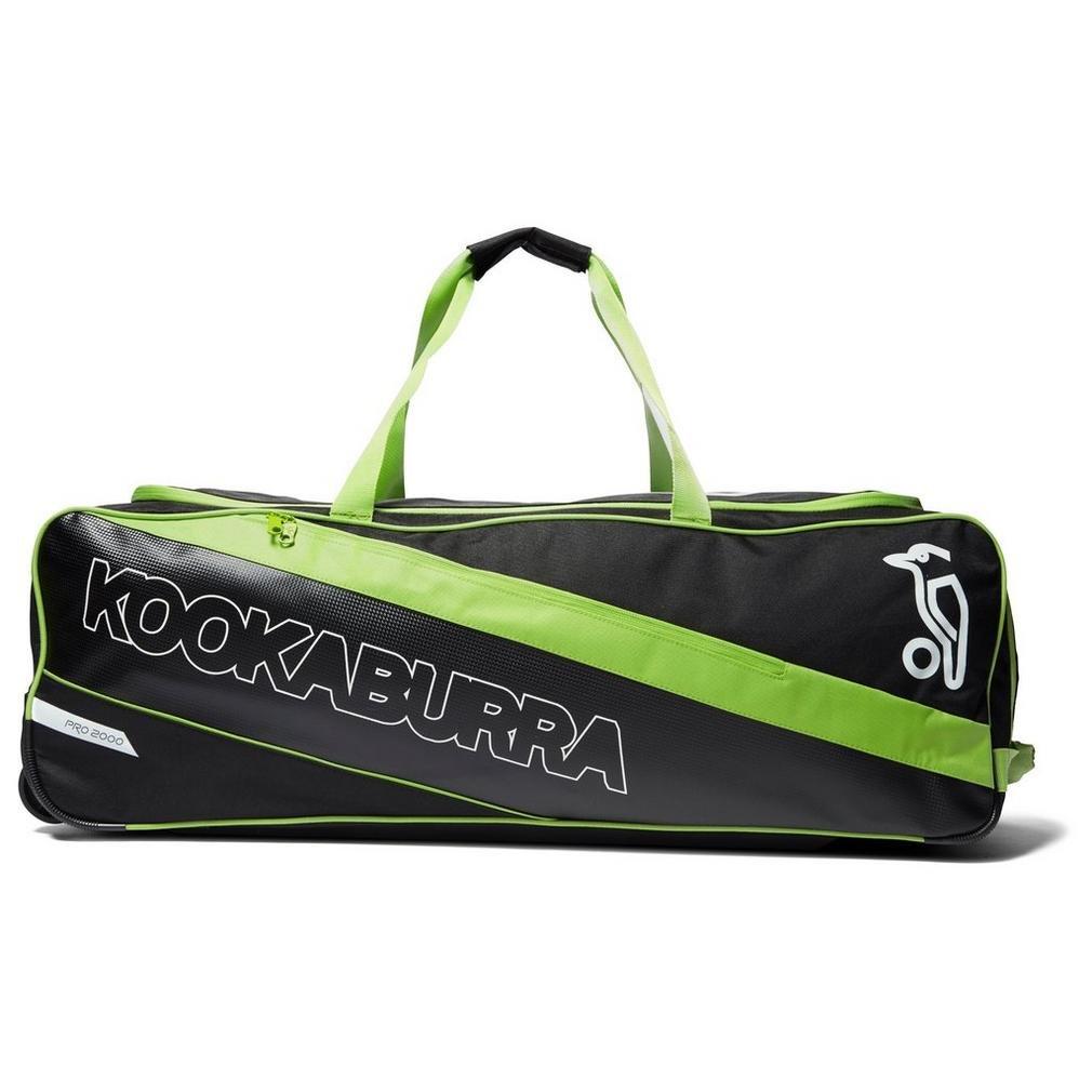 Kookaburra Pro 2000 Wheelie Bag 870 cm Black/Green 7E015