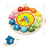 Coogam Wooden Shape Color Sorting Clock