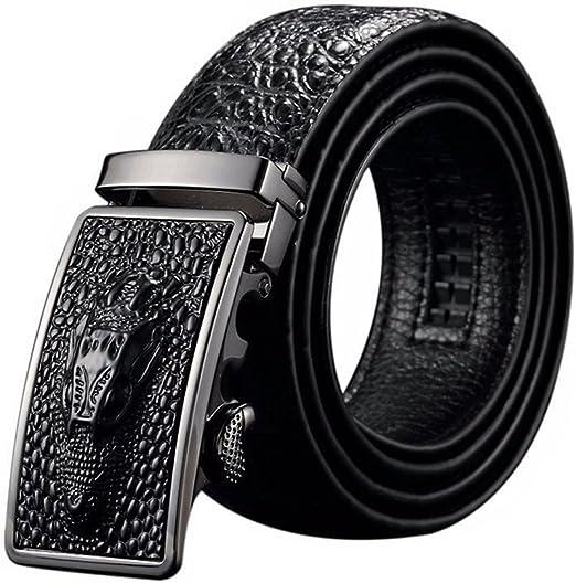 New Fashion Crocodile Alligator Belts For men Automatic Black Leather Man Belt