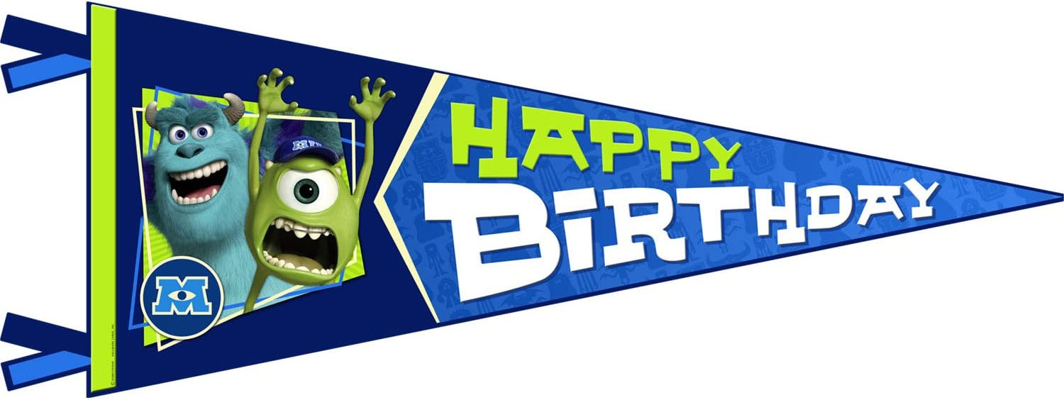 Hallmark Monsters University Inc. Happy Birthday Banner Pennant (1ct)