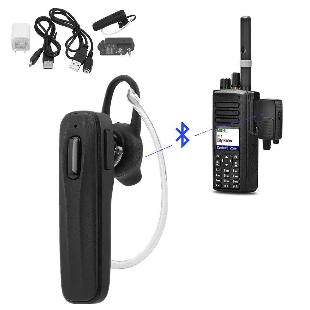Wireless Bluetooth Headset Earphone with Adapter for All K1 Plug Walkie Talkie