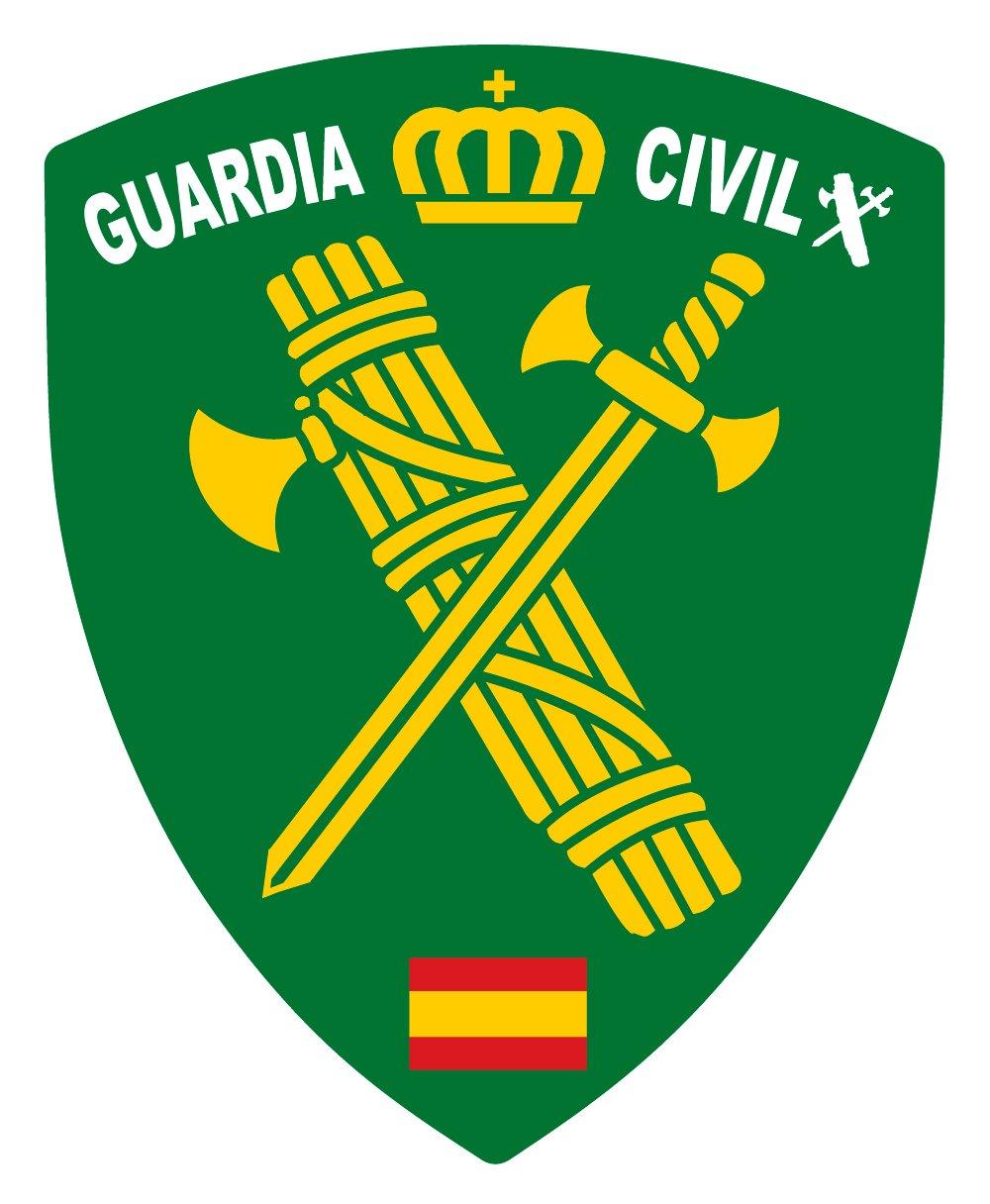 Artimagen Pegatina Escudo Pico Logotipo Guardia Civil 40x60 mm. Ediciones Imagina S.L.