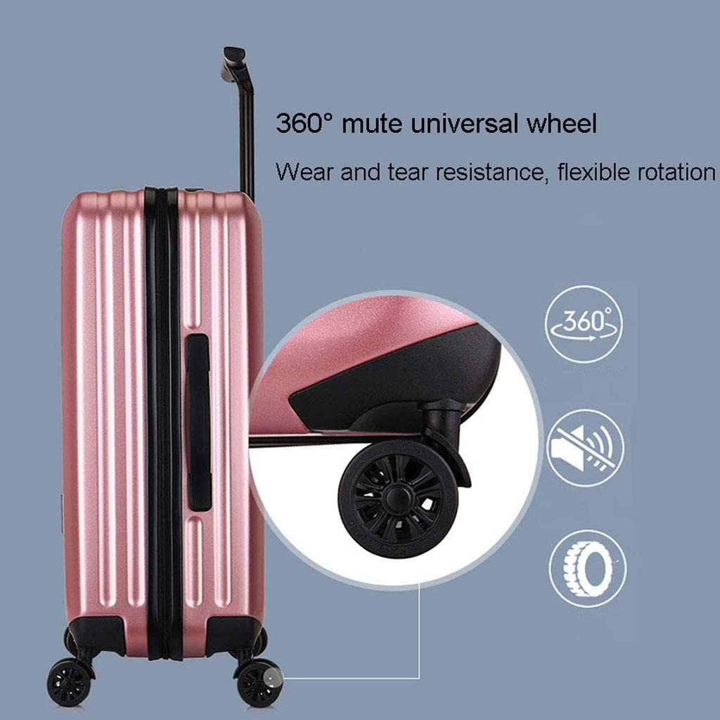 Mesurn Business Travel Trolley Case Wear-Resistant Abs Solid Material Telescopic Trolley Suitcase TSA Customs Password Lock
