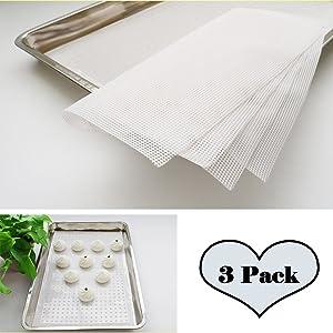 """StoHua Kitchen Silicone Steamer Mesh Dumplings Mat - 3pcs Reusable Bamboo Steamer Mat, Non-Stick Food Grade Silicone Steamer Mat For Steaming Basket,60x40cm (23.6"""" x 15.7"""")"""
