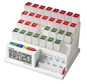 MedCenter (70265) 31 Day Pill Organizer with Reminder System by MedCenter: Amazon.es: Salud y cuidado personal