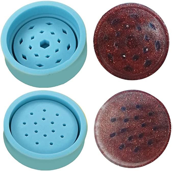 Verliked Smoke Grinder Resin Epoxy Mold DIY Spice Crusher Silicone Grinding Tools Mould White