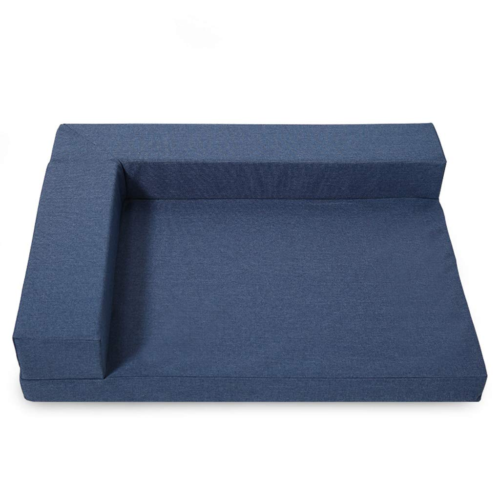 bluee XL 1158113cm bluee XL 1158113cm LITING Kennel Removable And Washable Dog Bed Teddy golden Retriever Pet Nest Small And Medium Dog Sofa Mattress Cat Litter Dog Supplies (color   bluee, Size   XL 115  81  13cm)