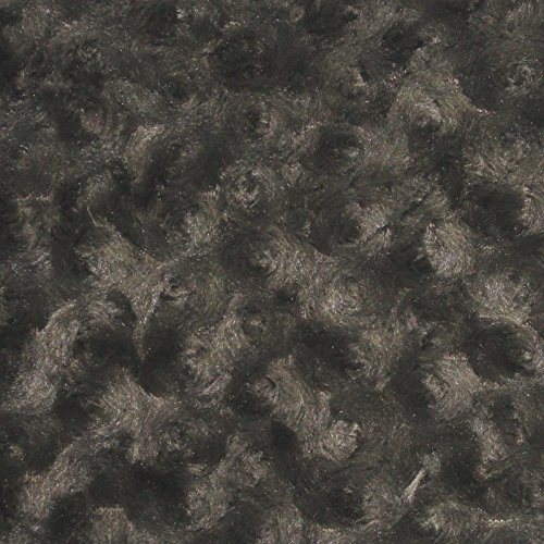 Swirl Rose Bud Fluff Minky Fur Fabric - Sold By The Yard - 58