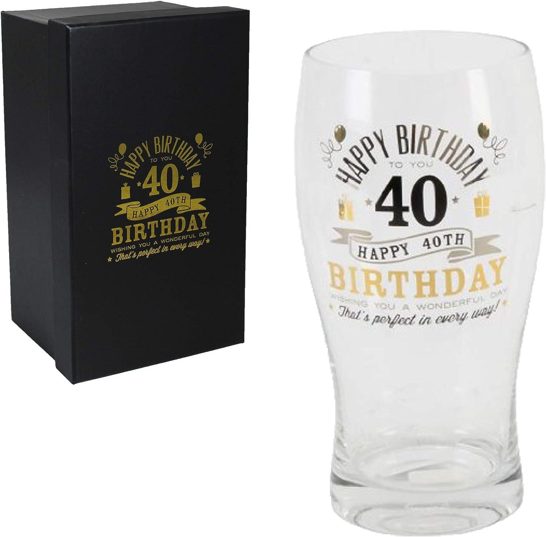 Birthday Beer Glass 40th 7951