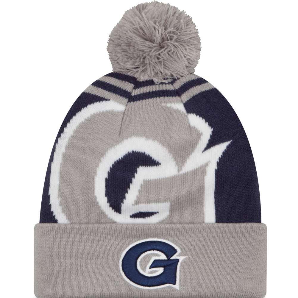New Era Georgetown Hoyas Logo Whiz 2 Pom Knit Beanie
