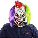 Xinwcanga Artesanía Payaso de Látex con Máscara de Horror de Halloween de Red Hat Enmascarar de