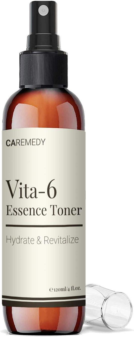 Vita6 Essence Toner Skin Care - Face Moisturizer Hydrating Setting Spray Revitalizing Vitamin Retinol Serum Anti Aging Korean Beauty Dark Spot Corrector 120ml
