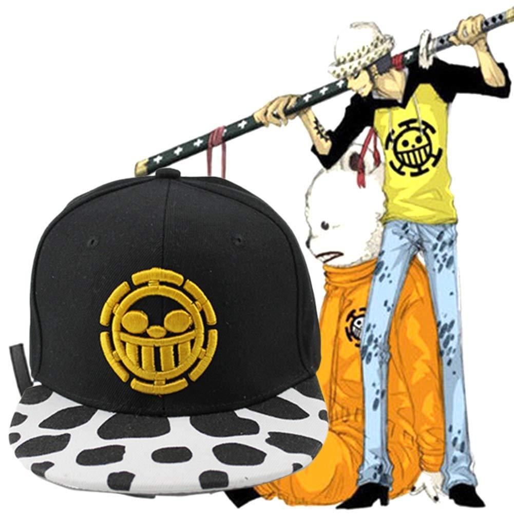 ALTcompluser Unisex Anime One Piece Baseball Cap Trafalgar Law Gestickter Hut Snapback Kappe Trucker Hat