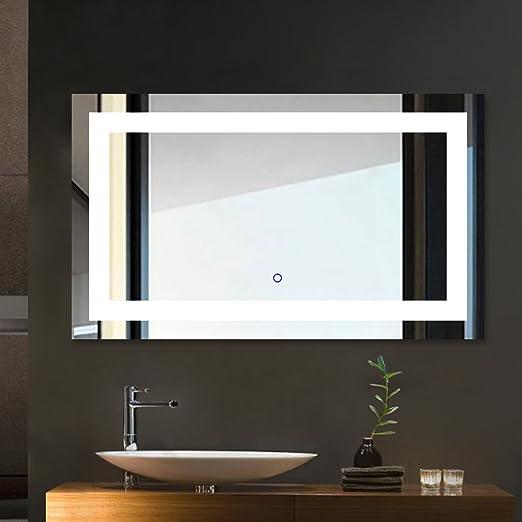 Miroir Salle de Bains avec éclairage Tonffi 25W HD Image ...