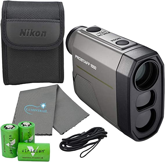 Nikon Prostaff Laser Rangefinder Bundle with 3 CR2 Batteries and Lumintrail Cleaning Cloth