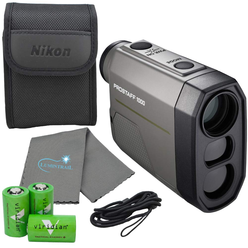 Nikon Prostaff 1000 Laser Rangefinder - 16664 Bundle with 3 CR2 Batteries and Lumintrail Cleaning Cloth by Nikon