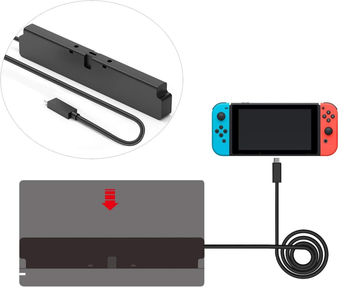 Cable de extensión para Nintendo Switch Dock Set (2ft): Amazon.es ...