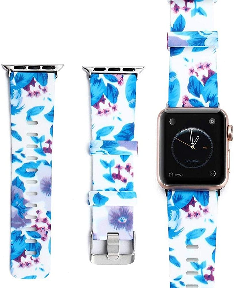 Sanjajo Apple Watch Sport Silicone Band Compatible with Watch Band 42MM 44MM