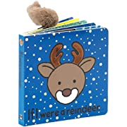 Jellycat Baby Touch and Feel Board Books, If I were a Reindeer