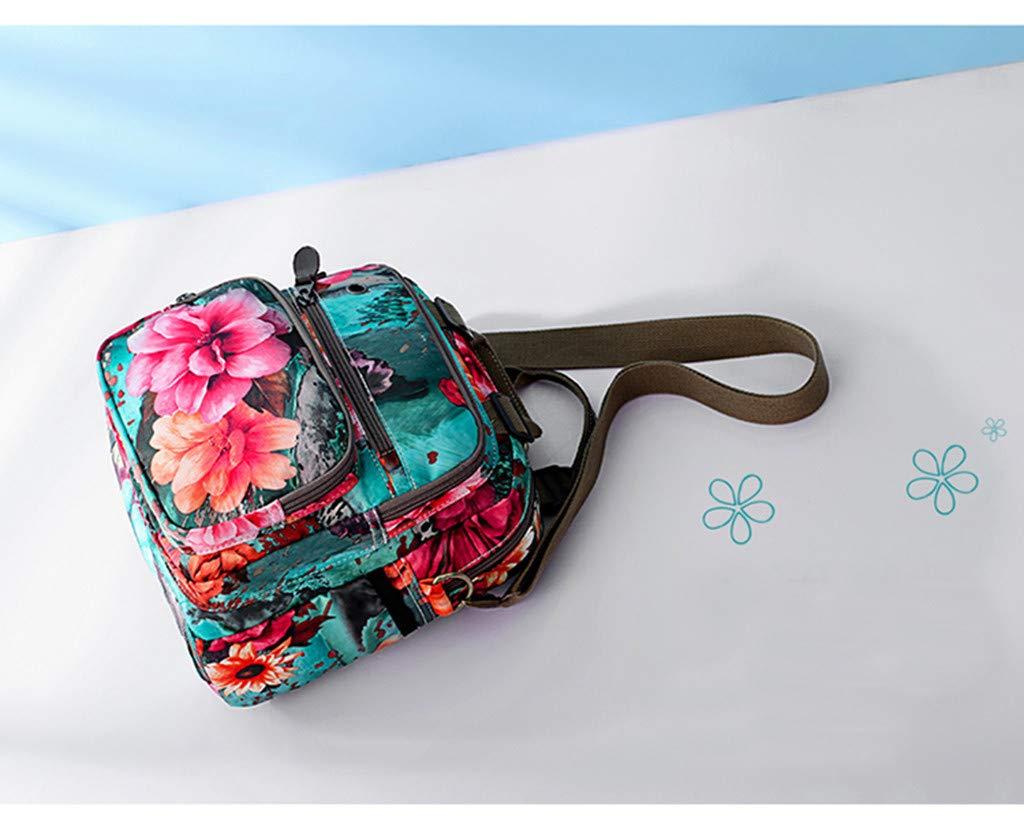 MONIVEVE Womens nylon Oxford cloth Mummy bag large capacity travel backpack printing simple fashion bag