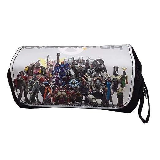 Moda Juegos Diseño Overwatch OW Lápices Bolsas PU Cuero Lona ...