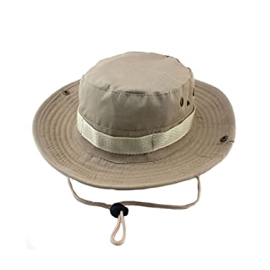 8d3c03053e59e Outdoor Boonie Sun Hat - UPF 50 Protection for Men Women. Wide Brim Summer  Hat. Waterproof Bucket Hat for Fly ...