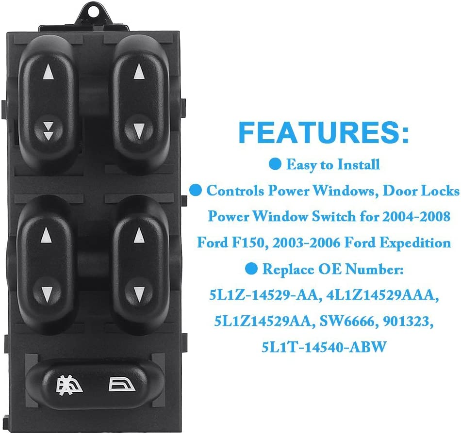 NEW 2003-2006 Ford Expedition Window Master Switch 5L1Z-14529-AA for  F-150