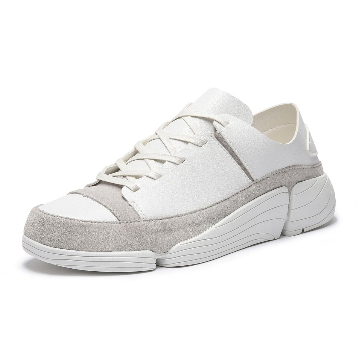 ARTISURE Men's White Genuine Leather Fashion Sneakers Athletic Running Shoes Casual Walking Shoes 11 M US SKS-2088BAI110