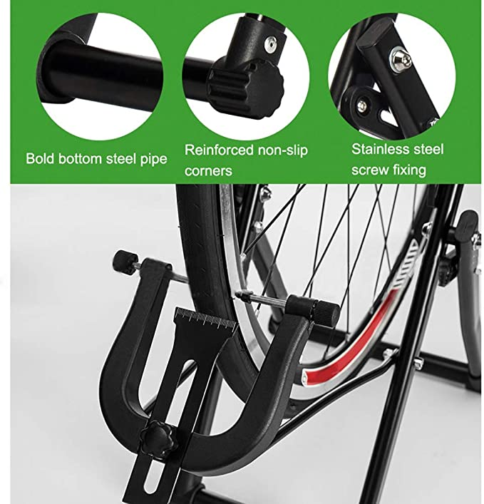 Febelle Soporte para Alineación de Ruedas para Bicicletas Caballete de Ruedas Reparador de Neumáticos Pie de Centrado Ajuste de Mecánicos para el Hogar Plegable se ...